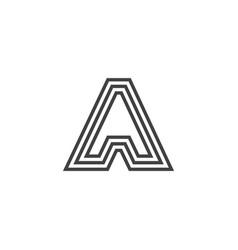 A letter logo lettermark monogram - typeface type vector