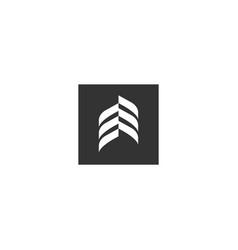 abstract logo - geometric shape futuristic vector image