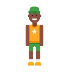 Afro american boy vector image