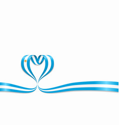 argentinean flag heart-shaped ribbon vector image