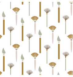 Art brush seamless pattern vector