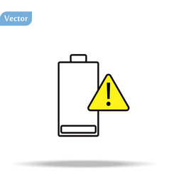 Battery charging flat icon battery level vector