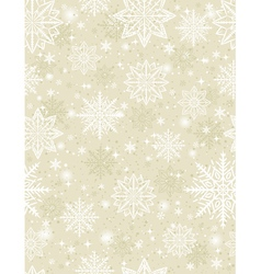Beige seamless pattern background with snowflakes vector image