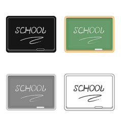 Blackboard with chalk and pointer board for vector