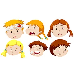 Boys and girls being hurt vector image