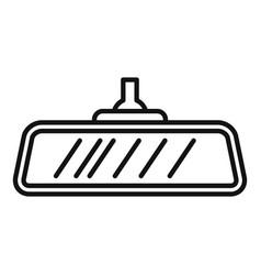 Car indoor mirror icon outline style vector