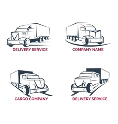 Cargo truck and delivery service logo vector image