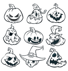 Cartoon image of jack o lantern vector