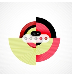 Circle geometric shapes flat interface design vector image