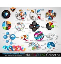 Circular Infographics BIG collection for your vector
