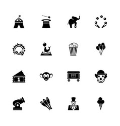 circus - flat icons vector image vector image
