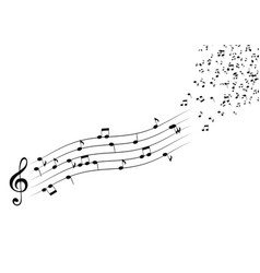 classical musical notes with treble clef vector image