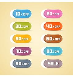 Colorful Discount Stickers Labels vector image
