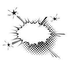 comic book style explosion expression cloud retro vector image