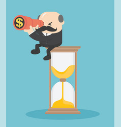 concept business sitting vector image