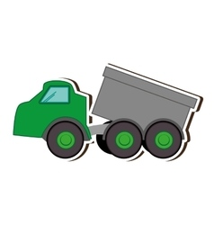 Construction truck dump vector