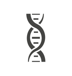dna helix silhouette vector image