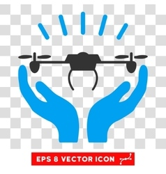 Drone Launch Hands Eps Icon vector