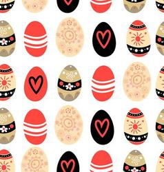 Easter seamless graphic pattern of different eggs vector image