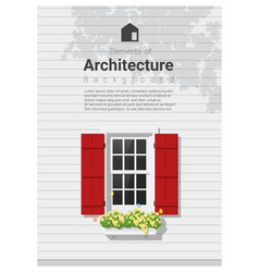 elements of architecture window background 5 vector image