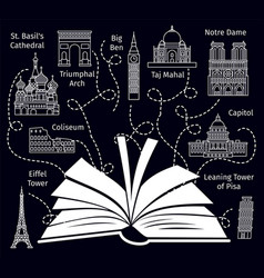 Europe travel book guide vector