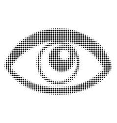 eye halftone icon vector image