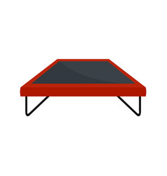 Fashion trampoline icon flat style vector
