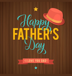 Father s day greeting card retro style vector