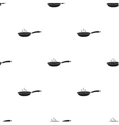 frying pan single icon in black stylefrying pan vector image
