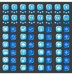 Game menu icons ice buttons vector