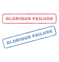 Glorious failure textile stamps vector