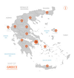 greece map with administrative divisions vector image