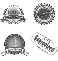 guaranteed logo vector image
