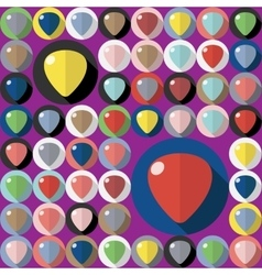 guitar picks vector image