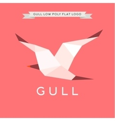 Gull low poly polygon logo geometry vector
