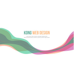 Header website abstract colorful design vector