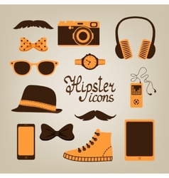 Hipster items collection vector image