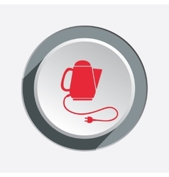 Home electric kettle Sale icon Kitchen equipment vector