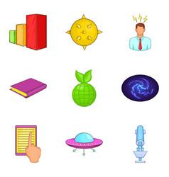 human intelligence icons set cartoon style vector image