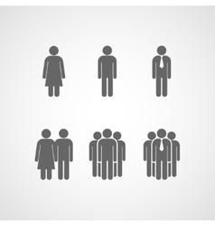 icons with people signs vector image