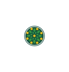 Isolated abstract round shape green color logo vector