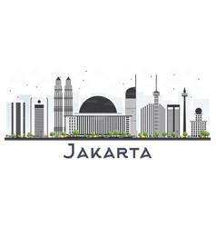 Jakarta indonesia city skyline with gray vector
