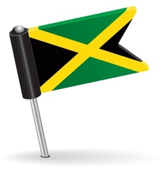 Jamaica pin icon flag vector