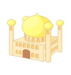 Jumeirah Mosque Dubai icon cartoon style vector image