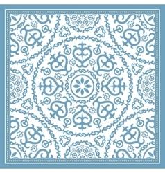 Light blue scarf design vector image