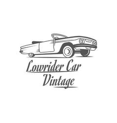 Lowrider car vintage logotype vector