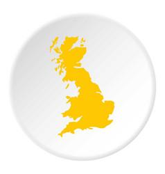 Map great britain icon circle vector