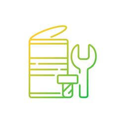 Metal waste gradient linear icon vector