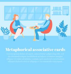 Metaphorical associative cards psychology vector