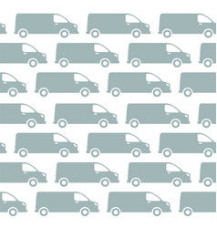 minivan delivery seamless pattern background vector image